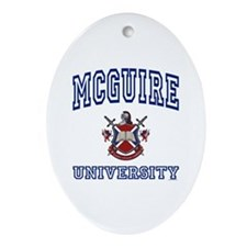 MCGUIRE University Oval Ornament