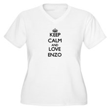 Keep Calm and Love Enzo Plus Size T-Shirt