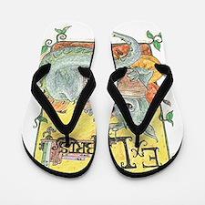 Dragon Reader (ex Libris) Flip Flops