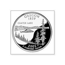 """coin-quarter-oregon Square Sticker 3"""" x 3"""""""