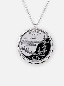 coin-quarter-oregon Necklace