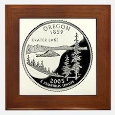 coin-quarter-oregon Framed Tile