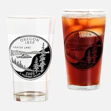 coin-quarter-oregon Drinking Glass