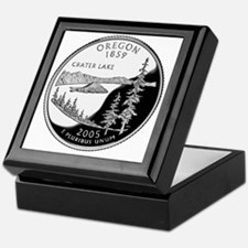 coin-quarter-oregon Keepsake Box