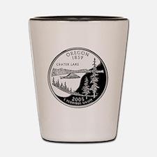 coin-quarter-oregon Shot Glass