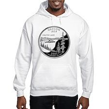 coin-quarter-oregon Hoodie Sweatshirt