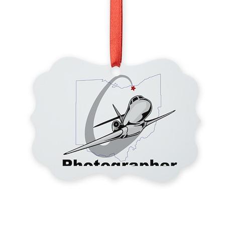 10x10_shrt_aviation_photogr Picture Ornament
