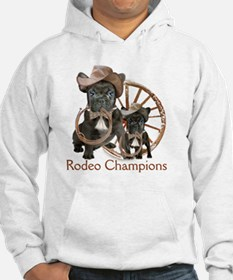 french bulldog  rodeo champions Hoodie