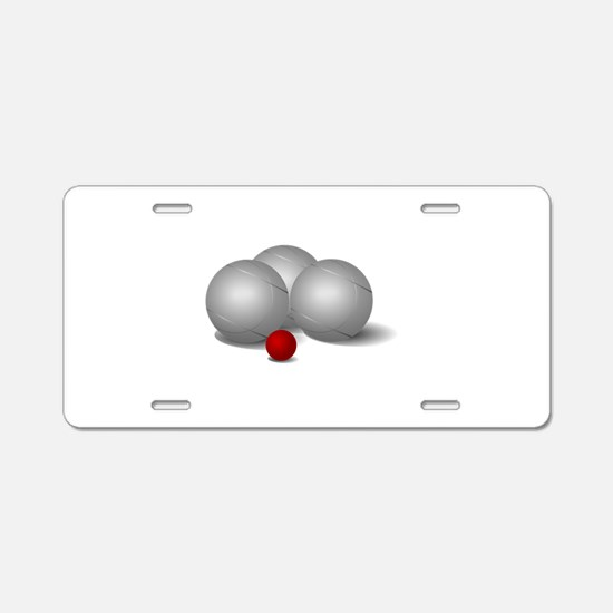 Bocce Ball Aluminum License Plate