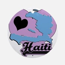 6-haiti Round Ornament