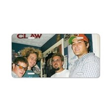 claw poster Aluminum License Plate