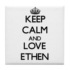 Keep Calm and Love Ethen Tile Coaster