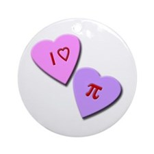 I Heart Pi Ornament (Round)