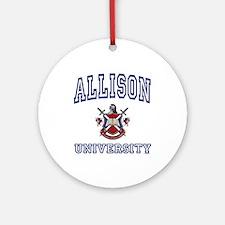 ALLISON University Ornament (Round)