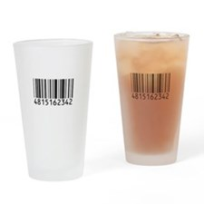 barcode-w Drinking Glass