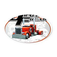 Diesel%20Freak%20New%20Tee%20#3 -  Oval Car Magnet