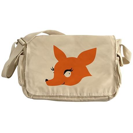 Cute Fox Face Messenger Bag