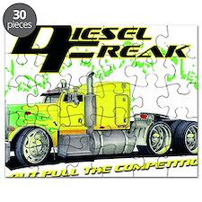 Green Yellow Diesel Freak - no background c Puzzle