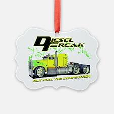Green Yellow Diesel Freak - no ba Ornament