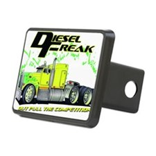 Green Yellow Diesel Freak  Hitch Cover
