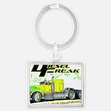 Green Yellow Diesel Freak - no  Landscape Keychain