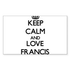 Keep Calm and Love Francis Decal