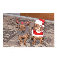 puppies december Postcards (Package of 8)