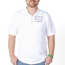 Pants on the Ground - button T-Shirt