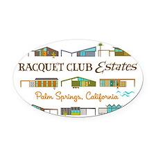 4-racquet club estates t final Oval Car Magnet