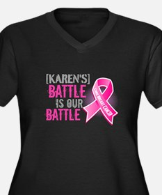 Personalized Breast Cancer Women's Plus Size V-Nec