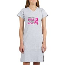 Personalized Breast Cancer Women's Nightshirt