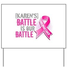 Personalized Breast Cancer Yard Sign