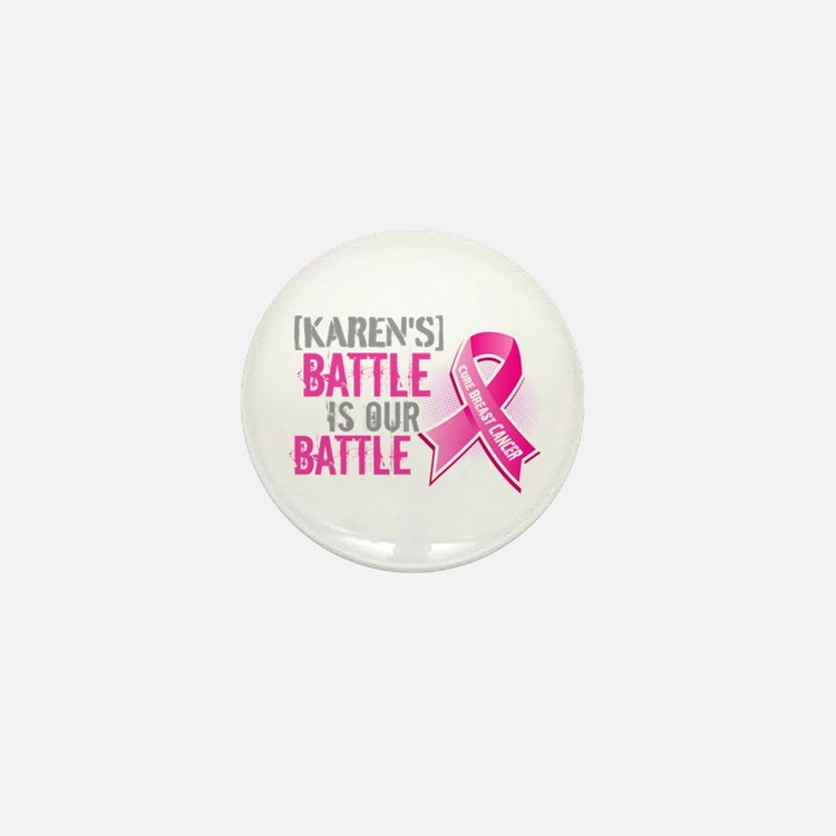 Personalized Breast Cancer Mini Button (10 pack)