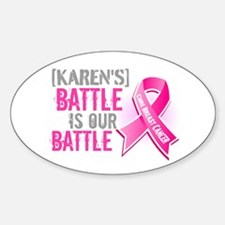 Personalized Breast Cancer Decal