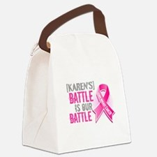Personalized Breast Cancer Canvas Lunch Bag