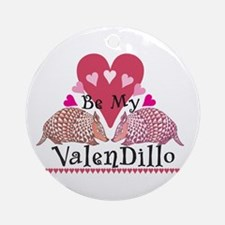 Armadillo Valentine's Day Ornament (Round)