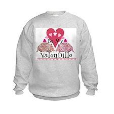Armadillo Valentine's Day Sweatshirt