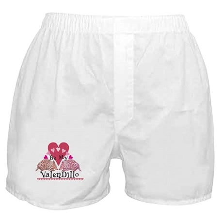 Armadillo Valentine's Day Boxer Shorts