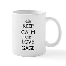 Keep Calm and Love Gage Mugs