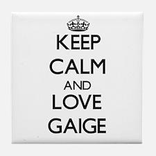 Keep Calm and Love Gaige Tile Coaster
