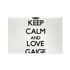 Keep Calm and Love Gaige Magnets