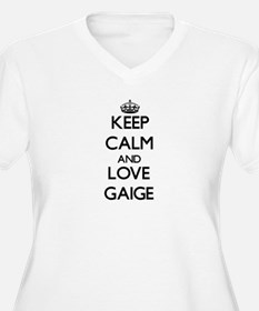 Keep Calm and Love Gaige Plus Size T-Shirt
