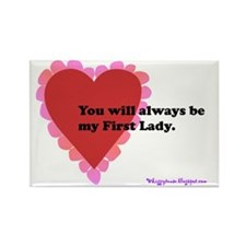 ART text first lady horizontal ca Rectangle Magnet