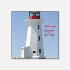 "lighthouse Square Sticker 3"" x 3"""