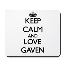Keep Calm and Love Gaven Mousepad