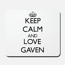 Keep Calm and Love Gaven Mousepad