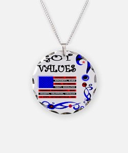 GOT VALUES on white Necklace