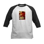 Wine & cheese Kids Baseball Jersey