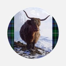 highland_coo Round Ornament