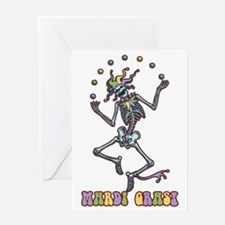 juggler-skel-T Greeting Card